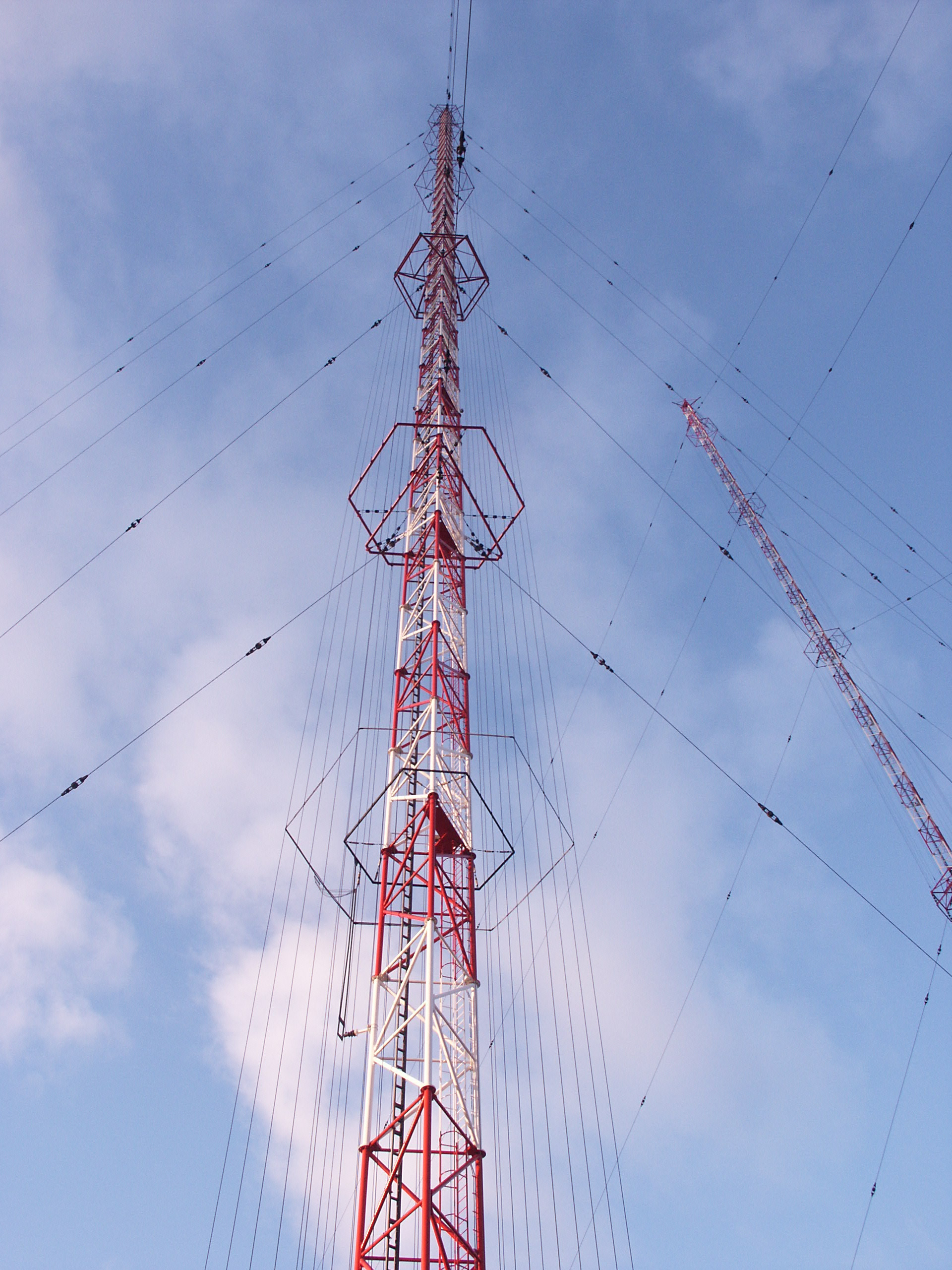 Transmitting antenna tower